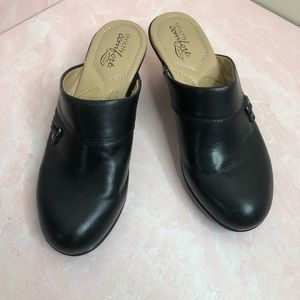 Strictly Comfort Black Mules